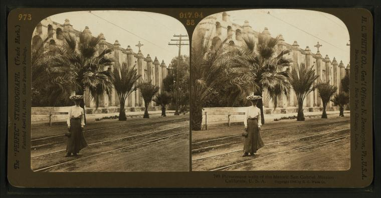 Fascinating Historical Picture of Mission San Gabriel Arcangel in 1906