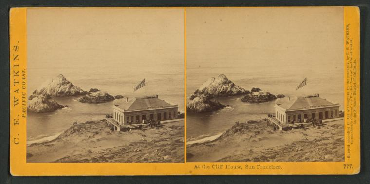 This is What Cliff House Looked Like  in 1866