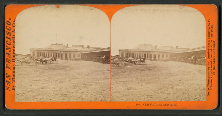 Fascinating Historical Picture of Cliff House in 1870