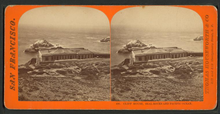 Fascinating Historical Picture of Cliff House in 1869