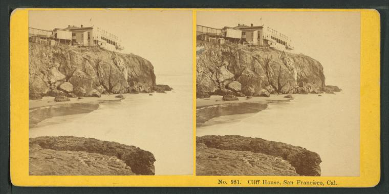 Fascinating Historical Picture of Cliff House in 1872