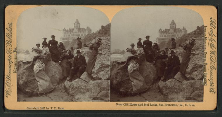 This is What Cliff House Looked Like  in 1897
