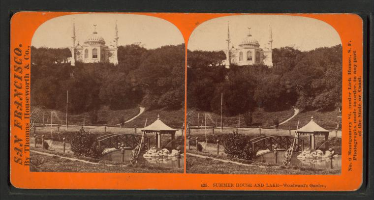 Fascinating Historical Picture of Woodwards Gardens in 1866