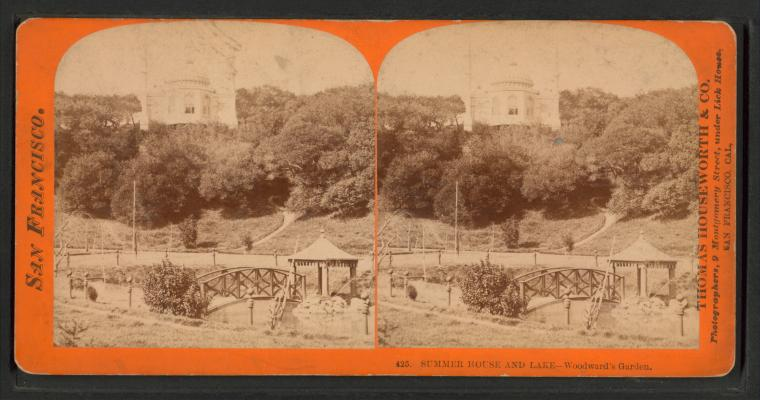 This is What Woodwards Gardens Looked Like  in 1866