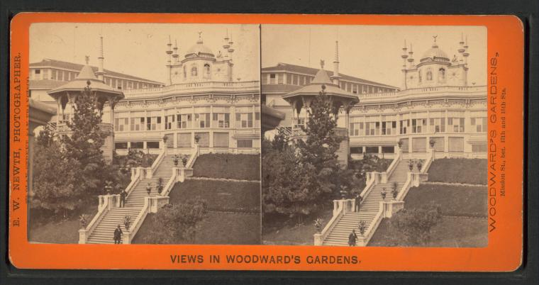 Fascinating Historical Picture of Woodwards Gardens in 1875