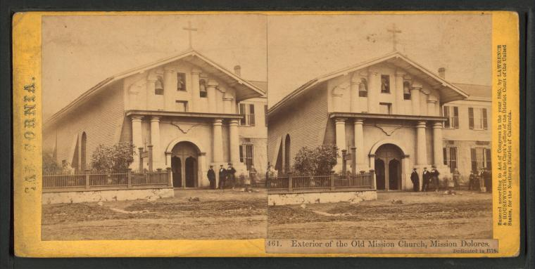 Fascinating Historical Picture of San Francisco de Asi?s Mission in 1863