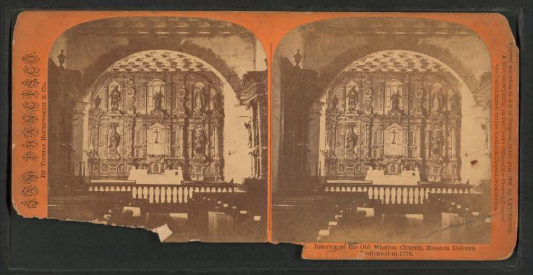 Fascinating Historical Picture of San Francisco de Asi?s Mission in 1866