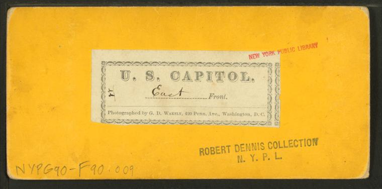 This is What G. D Wakely and U.S. Capitol East Front Looked Like  in 1865