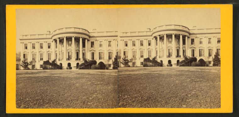 This is What G. D Wakely and White House Lawn front Looked Like  in 1865