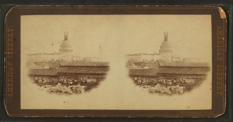 Fascinating Historical Picture of United States Capitol in 1860