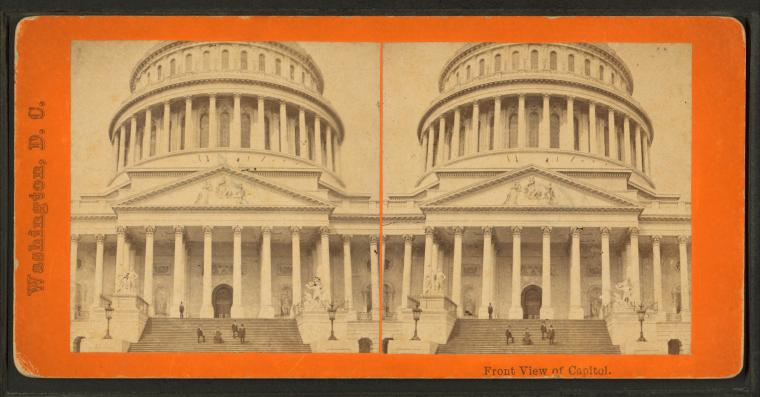 This is What United States Capitol Looked Like  in 1870