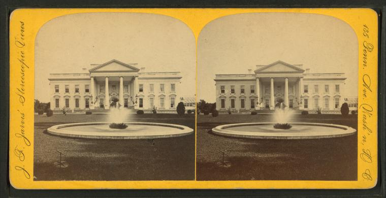 This is What White House Looked Like  in 1870