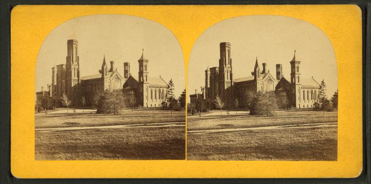 This is What Smithsonian Institution Looked Like  in 1869
