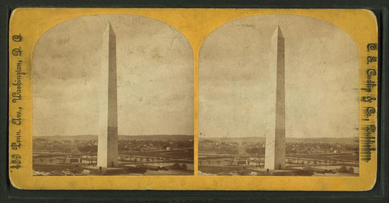 This is What Robert Mills and Washington Monument Looked Like  in 1860