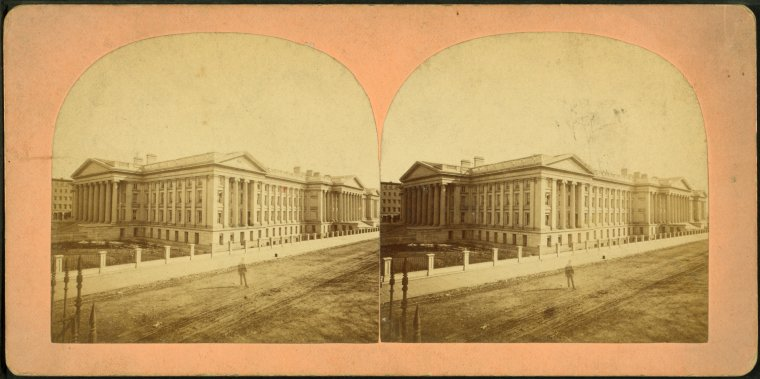 This is What Treasury Building Looked Like  in 1870