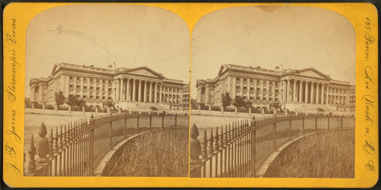 Fascinating Historical Picture of Treasury Building in 1875