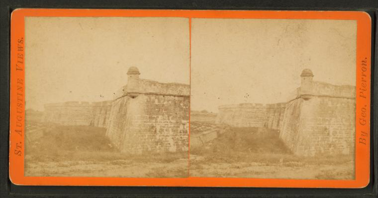 This is What Castillo de San Marcos Looked Like  in 1879