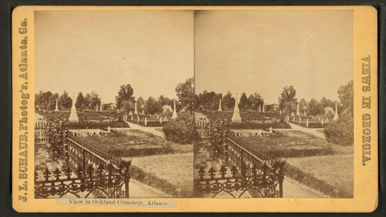 This is What Oakland Cemetery Looked Like  in 1880