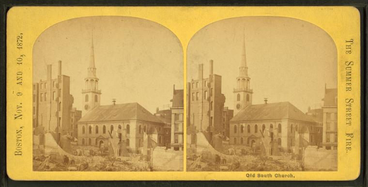 Fascinating Historical Picture of Old South Church in 1872