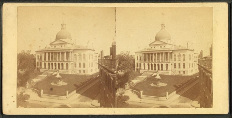 Fascinating Historical Picture of Massachusetts State House in 1865