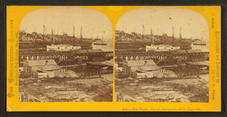 Fascinating Historical Picture of Chicago and North Western Railway Company in 1867