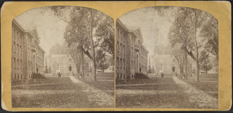Fascinating Historical Picture of College of New Jersey in 1870