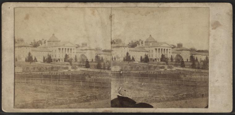 Fascinating Historical Picture of New Jersey State Lunatic Asylum at Trenton in 1860