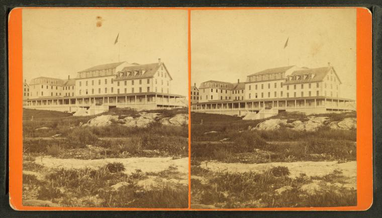 Fascinating Historical Picture of Oceanic Hotel in 1870