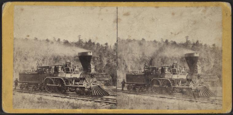 Locomotive on the road, near Port Jervis.