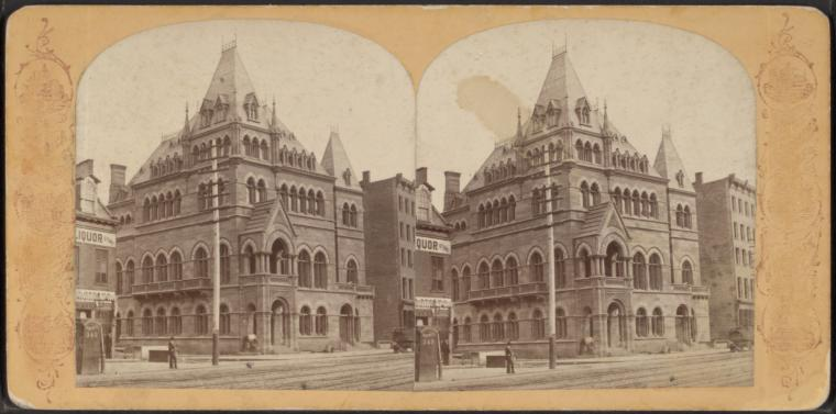 This is What Dry Dock Savings Institution, New York Looked Like  in 1860