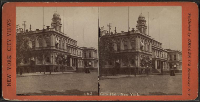 This is What City Hall (New York, N.Y.) Looked Like  in 1865