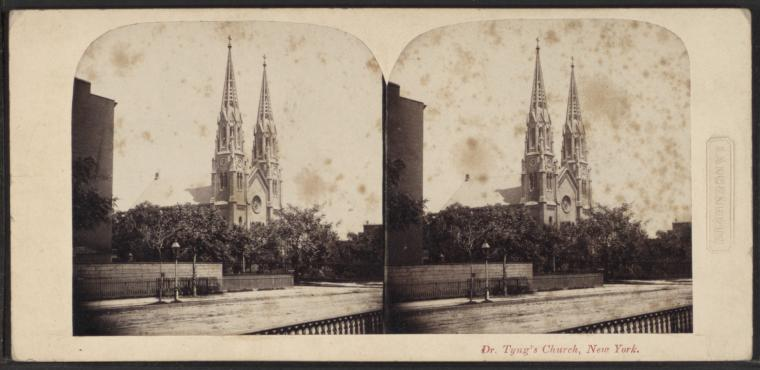 This is What St. Georges Church Looked Like  in 1860