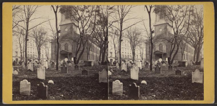 Fascinating Historical Picture of Trinity Church in 1865