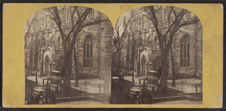 Fascinating Historical Picture of Trinity Church in 1864