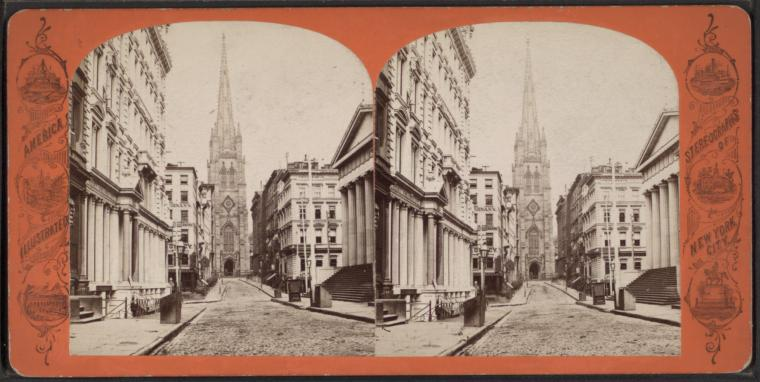 Fascinating Historical Picture of Trinity Church in 1870