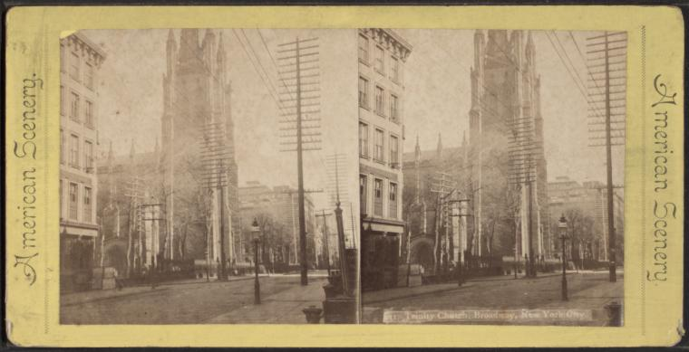 This is What Trinity Church Looked Like  in 1865