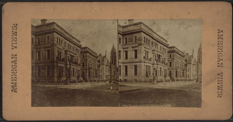 This is What Vanderbilt family -- Homes and haunts -- New York Looked Like  in 1860