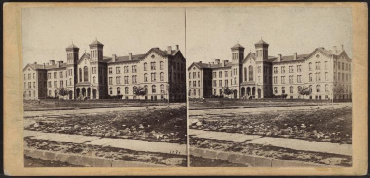 This is What St. Lukes Hospital Looked Like  in 1865