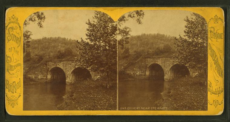 This is What Pennsylvania Railroad Looked Like  in 1870