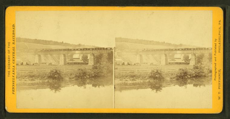 Fascinating Historical Picture of Pennsylvania Railroad in 1870
