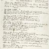 """A Death-Sonnet for Custer."" Holograph poem, undated, signed."