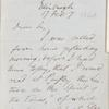 Emerson: An Appreciation. Holograph draft, unsigned, c. 1854.
