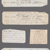 Holograph memoranda and notes, unsigned and undated, written on 27 scraps of paper