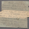 Holograph notes for lectures and poems; 12 notes written on 14 pieces paper, unsigned, undated.
