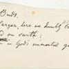 """""""Two little human buds."""" Holograph poem (fragment?). Unsigned, undated."""