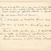 [Entire leaf, showing the recto of the Whitman manuscript] general description of my going ... [mounted in the center of the larger leaf.]