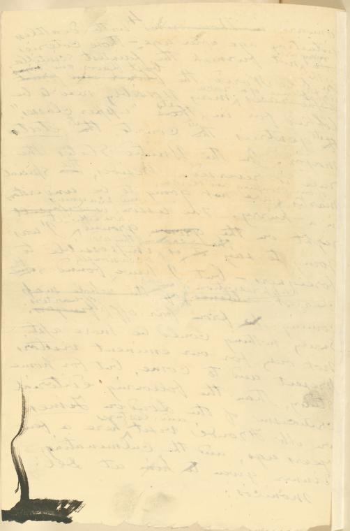 This is What Walt Whitman and Ms. leaf verso Looked Like  in 1883