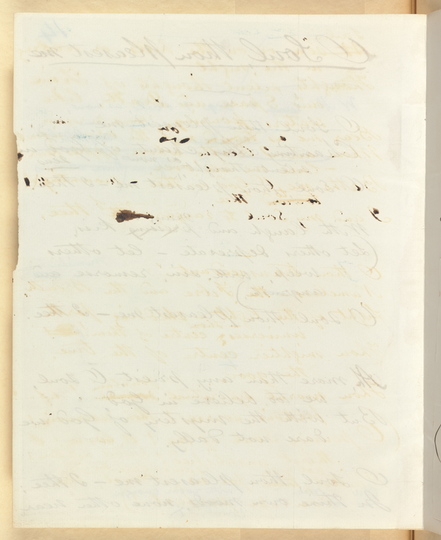 This is What Walt Whitman and Ms. leaf verso Looked Like  in 1871