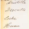 See Aristotle Descartes Locke Hume