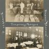 Temporary morgue [above]; Dock at E. 26. St. June 15th 1904 [below].